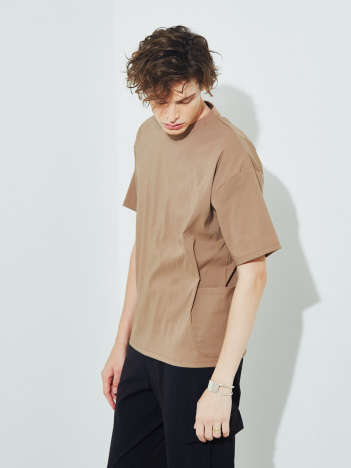 【MYSELF ABAHOUSE/セットアップ対応】DRY MIX ダブルポケット Tシャツ