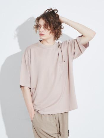 ABAHOUSE - 【MYSELF ABAHOUSE】スラブポンチ ビッグシルエット 6分袖Tシャツ【予約】