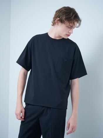 ABAHOUSE GRAY - 【MYSELF ABAHOUSE】ポリトロ 6分袖 ウーブン Tシャツ