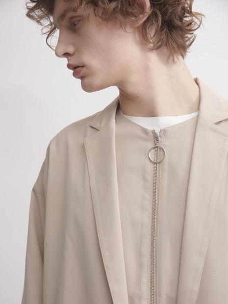 【MYSELF ABAHOUSE】TR平織り ひとつボタン シャツ ジャケット【予約】