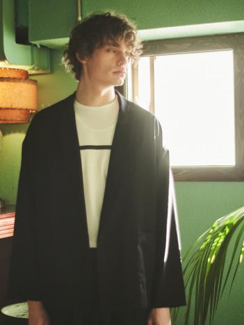 【MYSELF ABAHOUSE】TR平織り ひとつボタン シャツ ジャケット