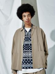 【MYSELF ABAHOUSE】オープンカラー シャツ ジャケット