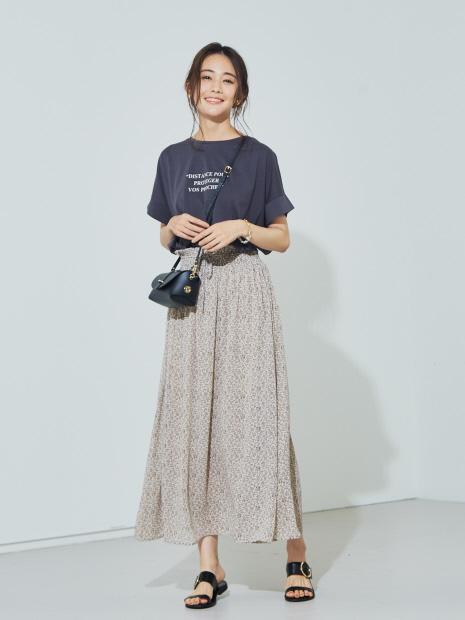 【WEB先行販売】フラワープリントスカート