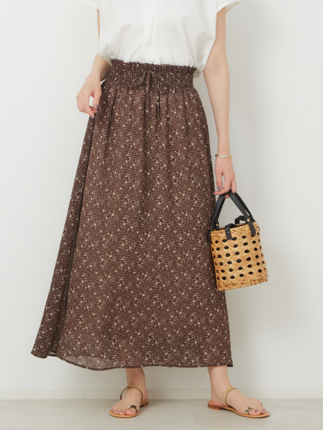 【WEB先行販売】フラワープリントスカート【予約】