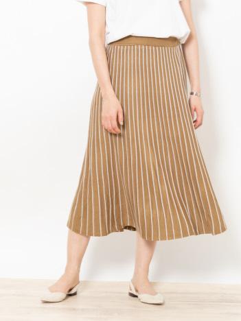 レーヨンアクリルプリーツ風スカート