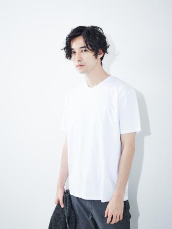 【展開店舗限定】シルケット天竺 Vネック半袖Tシャツ