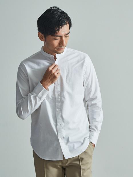 【展開店舗限定】ストレッチ オックス バンドカラー シャツ