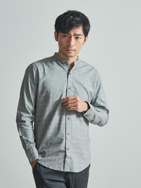 【展開店舗限定】ストレッチオックスバンドカラー シャツ