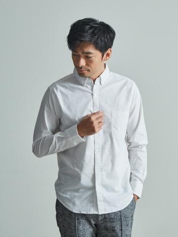 【展開店舗限定】ストレッチ オックス ボタンダウン シャツ