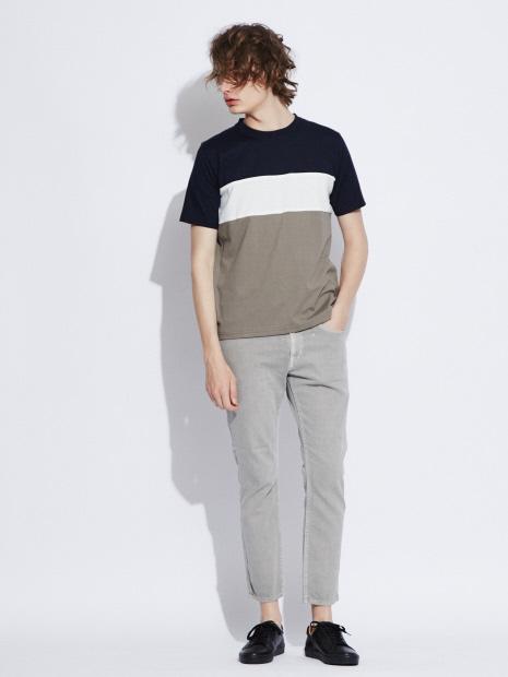 【展開店舗限定】パネル配色切り替え 半袖Tシャツ