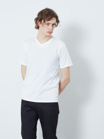 【展開店舗限定】杢スラブ半袖VネックTシャツ