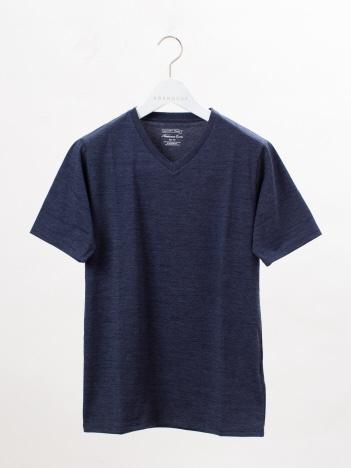 ABAHOUSE - 【展開店舗限定】杢スラブ半袖VネックTシャツ
