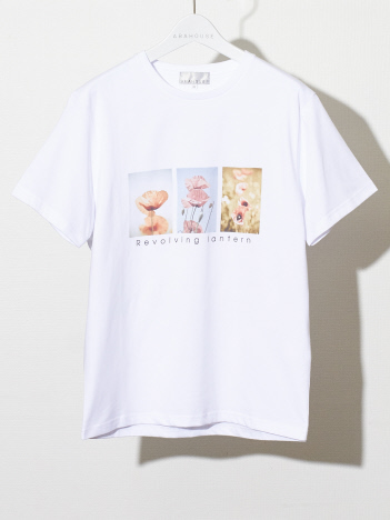 ABAHOUSE - 【展開店舗限定】FlowerFhotoプリント半袖Tシャツ