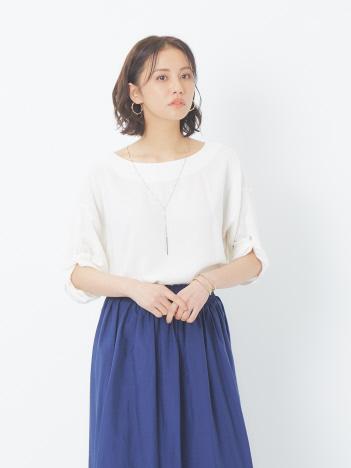 ecru 【2WAY】レーヨンリネン袖ツイストプルオーバー