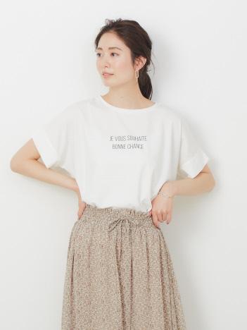 abahouse mavie - 【WEB先行カラーあり】ecru ワイドロゴTシャツ