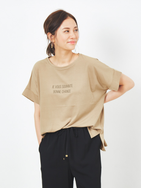 【WEB先行カラーあり】ecru ワイドロゴTシャツ