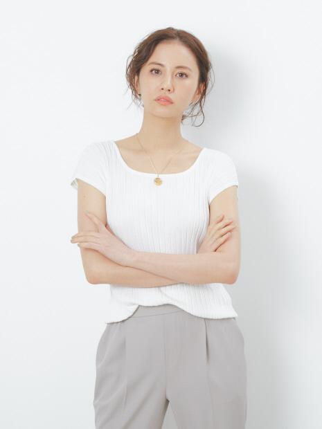 【UVカット加工】ecru ワイドリブプルオーバー