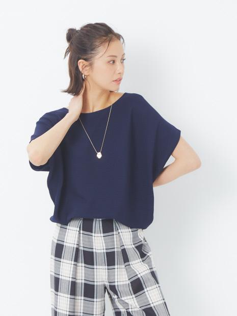 ecru 横リブドルマンフレンチプルオーバー【予約】