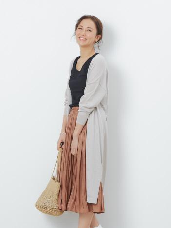 【UVカット加工】ecru ロングカーディガン
