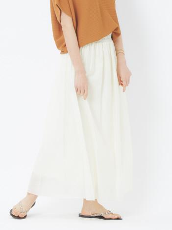 abahouse mavie - ecru ライトクロスギャザースカート