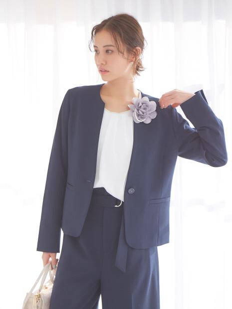 【セットアップ対応】ecru スキッパージャケット
