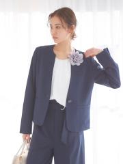 【マザーニーズ】【セットアップ対応】ecru スキッパージャケット