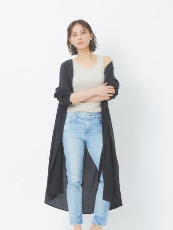 abahouse mavie - ecru ライトクロスシャツワンピース【予約】