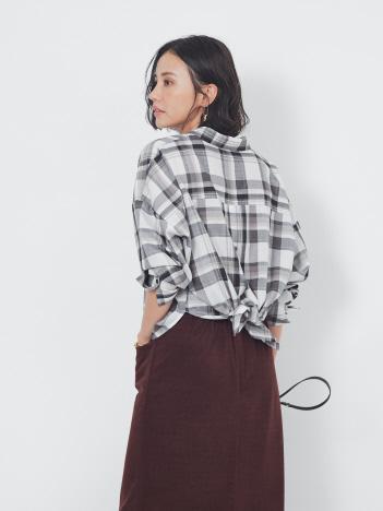 abahouse mavie - 【新色追加】【2WAY】スキッパーバックデザインシャツ