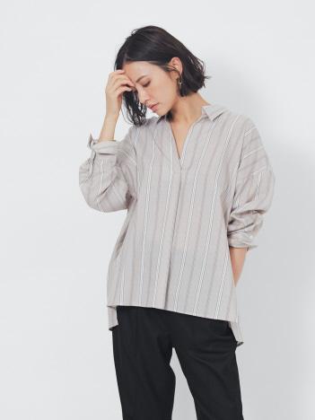 【新色追加】【2WAY】スキッパーバックデザインシャツ