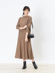 【セットアップ】レーヨンアクリルニットプルオーバー&スカート