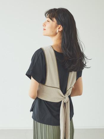 【販売店舗限定】パイピングニットビスチェ