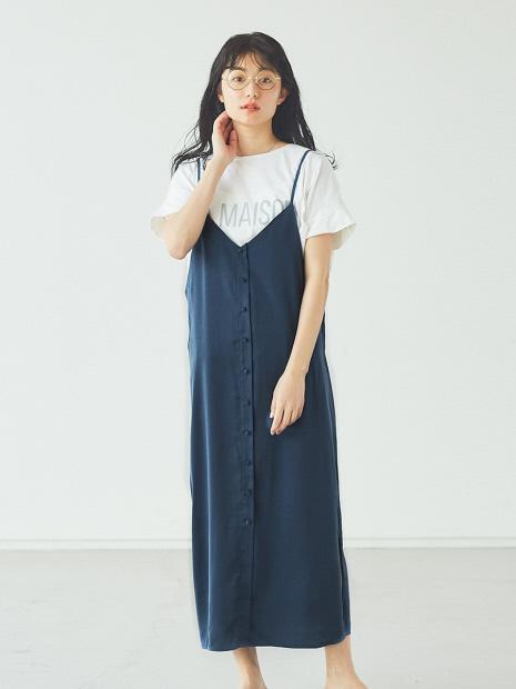 【販売店舗限定】サテンキャミワンピース