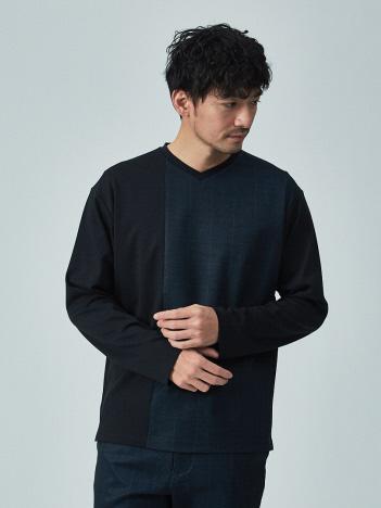 ABAHOUSE GRAY - 【展開店舗限定/セットアップ対応】CASTELLO11 ポンチ Vネック 長袖Tシャツ