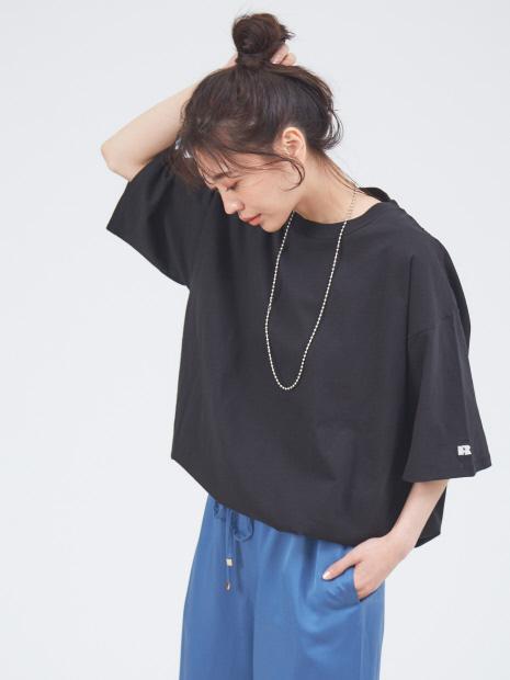 【別注】RUSSELL ATHLETIC×abahouse mavie ドローコードTシャツ【予約】