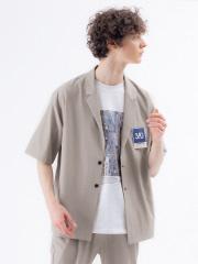【セットアップ対応】360° ストレッチ 半袖シャツ ジャケット