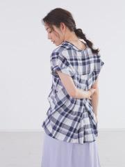 ecru バックボタンブロードシャツ