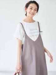 【追加新色】ecru ワイドロゴTシャツ