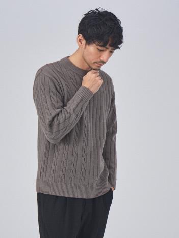 ABAHOUSE GRAY - 編地 切替 プルオーバー ニット【予約】