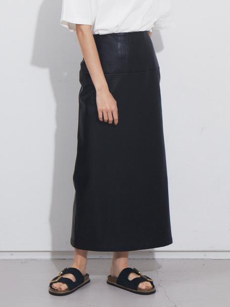 【展開店舗限定】ペンシルエコレザースカート