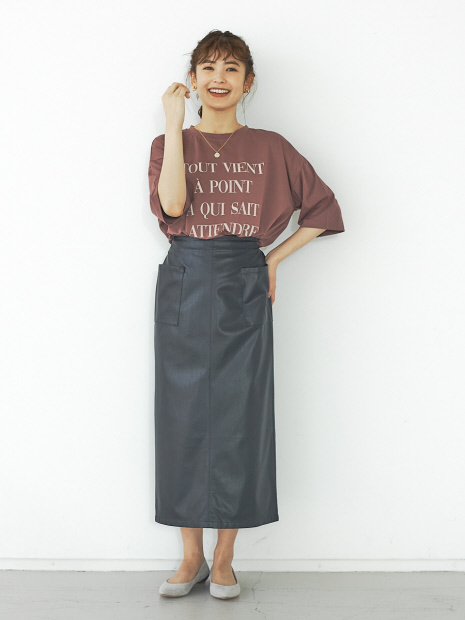 【販売店舗限定】ワイド5分袖ロゴTシャツ