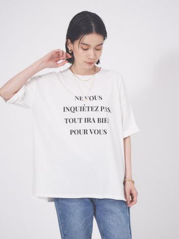 abahouse mavie - 【販売店舗限定】ワイド5分袖ロゴTシャツ