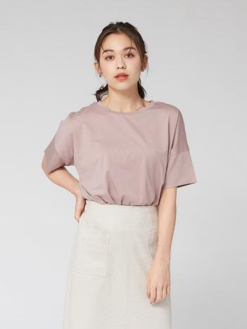 abahouse mavie - 5分袖丈マーセライズワイドTシャツ
